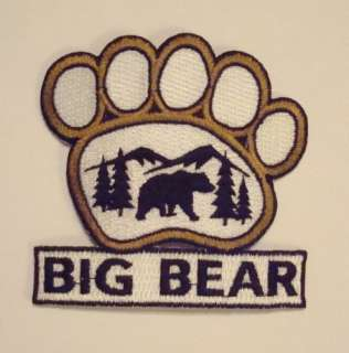 BIG BEAR California Park PAW PRINT SHAPE Souvenir PATCH