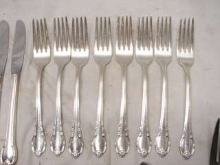 51 PC ROGERS REMEMBRANCE SILVER PLATE FLATWARE SET B