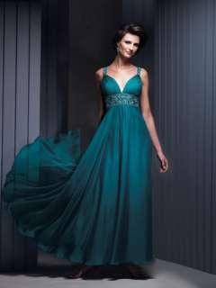 Custom Blue Evening Wedding Dress Prom Ball Party Gowns