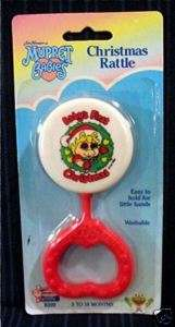1989 Miss Piggy Muppet Baby Christmas Rattle /Old Stock