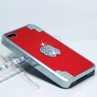 Crystal Diamond Aluminum Case Cover For Apple iPhone 4S 4G