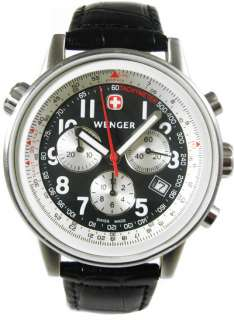 WENGER Swiss Army Mens Commando SR Chrono Watch PRE OWNED