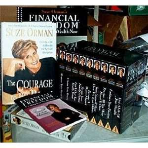 LOT OF SUZE ORMAN MATERIALS BOOKS & VHS VIDEOCASSETTES