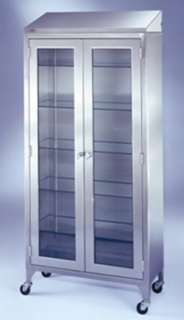 STAINLESS STEEL MEDICAL OR STORAGE CABINET SUPPLY CLOSET