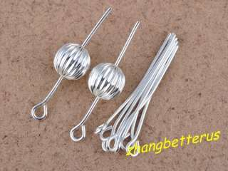 30mm Silver Plated 9 pin word Eye Pins Needles Jewelry Findings