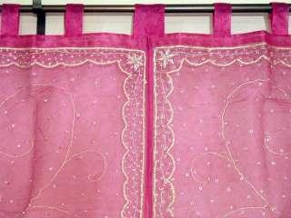 Pink Designer India Window Treatment Fashion Curtains