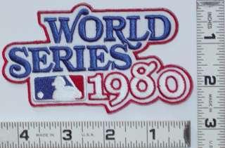 1980 WORLD SERIES PATCH PHILADELPHIA PHILLIES MLB BASEBALL CHAMPIONS