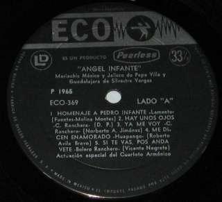 ANGEL INFANTE   HOMENAJE A PEDRO INFANTE   MEXICAN LP trio los
