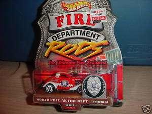 HOT WHEELS FIRE DEPT. NORTH POLE AK 3 WINDOW 34 MIP