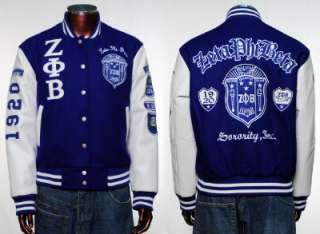 Zeta Phi Beta Long sleeve Varsity Jacket S 3X