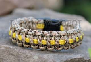 Paracord Survival Bracelet   Support Troops Desert DLX