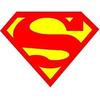 Superman auto car decal graphic vinyl sticker 9.25X7