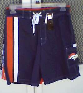 MENS Denver Broncos Swim Trunks Board Shorts NWT S M L