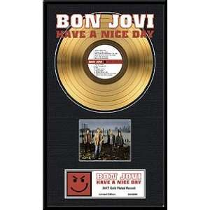 Jovi Have a Nice Day 24kt Gold Record Limited Edition