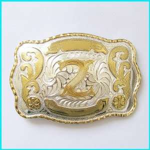 New Western English Letters Z Belt Buckle WT 078Z