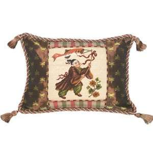 123 Creations C209.12x16 inch Chinese Boy with Fish Petit Point Pillow