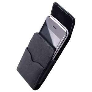 MobiMan® Premium  Apple iPhone 4s Genuine Leather Vertical Punch Case