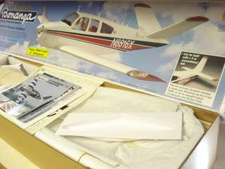 TOP FLITE BEECHCRAFT BONANZA R/C MODEL AIRPLANE KIT ** 1/5 SCALE
