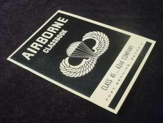 1965 AIRBORNE CLASSBOOK Fort Benning, GA PARACHUTE JUMP TRAINING