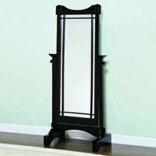 Powell Mission Black Finish Free Standing Cheval Mirror