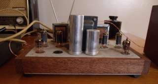 STEREO CONSOLE TUBE AMPLIFIER, WOOD TRIMMED AND RUNS GREAT MAGNAVOX