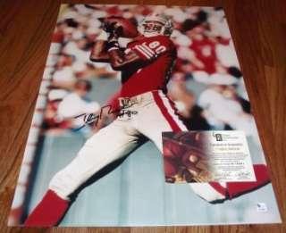 Jerry Rice San Francisco 49ers Hall of Famer HOF Autograph 16x20 GAI