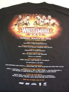 Wrestlemania 26 John Cena Superstars WWE T shirt Brett