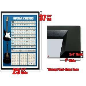 Framed Guitar Chords Keys Learn Play Poster FrPp31228 A