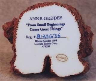 1998 ANNE GEDDES BABY BEAR SMALL BEGINNINGS FIGURINE