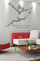 Gymnast Girls Kids Room Wall Art Decor Decal New