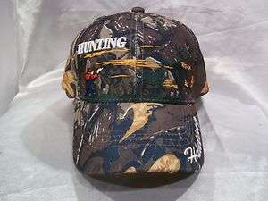 DEER HUNTER HUNTING BALL CAP HAT IN CAMO NEW NWOT OSFM