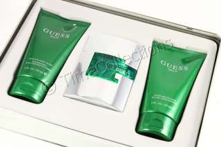 GUESS GOLD MAN SPRAY COLOGNE HAIR BODY WASH GIFT SET