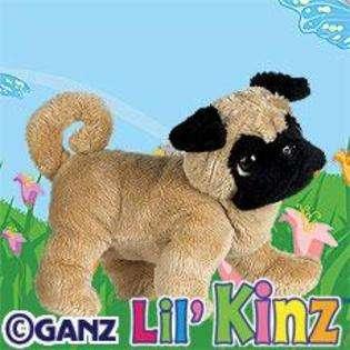 LilKinz Pug Mini Plush Stuffed Animal and Virtual Pet  WebKinz Toys