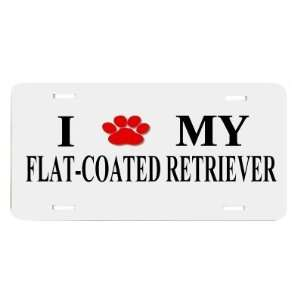 Flat coat Retriever Paw Love Dog Vanity Auto License Plate