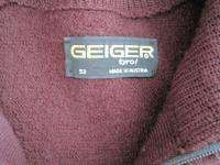 Geiger Tyrol Mens Jacket Sz 52/US 41 BOMBER Coat Wool Maroon