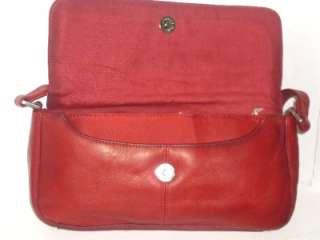 HOBO INTERNATIONAL Buttery Soft Red Leather Shoulder Bag Tote Handbag