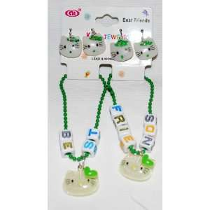 Green BFF Best Friends Set Girls Bracelets & Earrings