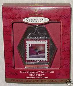 STAR TREK USS ENTERPRISE KEEPSAKE ORNAMENT STAMP 1999