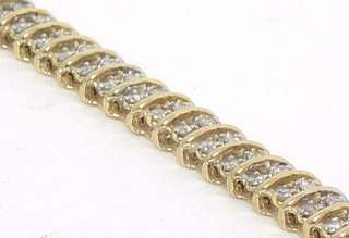 STYLISH 14K GOLD & DIAMONDS LADIES TENNIS BRACELET