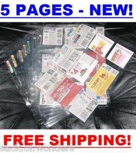 Pocket Pages for 3 Ring COUPON BINDER ORGANIZER