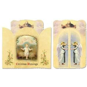 Catholic Christian Baby Jesus Saint Benedict Holy Prayer Card Shrine