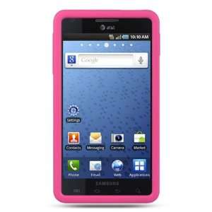 HOT PINK Silicone Skin Cover Case for Samsung Infuse 4G