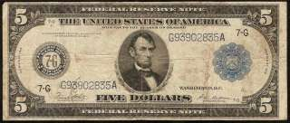 BILL FEDERAL RESERVE BLUE SEAL NOTE CHICAGO OLD PAPER MONEY
