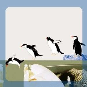 SS58235 PENGUIN WALL ART DECOR Mural Decal STICKER DIY