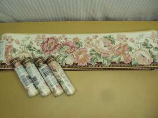 Pink Flower Floral Wall Border 25 Yds Waverly 5501483
