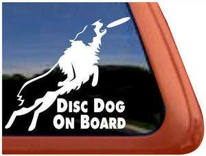 ON BOARD Frisbee Dog High Quality Auto Car Truck Window Decal Sticker