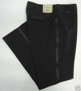 Tuxedo Satin Trim Embellished Career Dress Pants Slacks MSRP$36.00