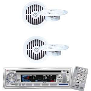Pyle Marine Radio Receiver and Speaker Package   PLCD3MR AM/FM