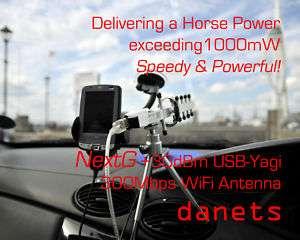 USB Yagi High Power WiFi antenna +28dBm for laptop & PC