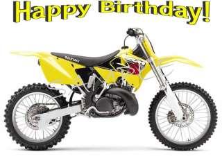 Edible Cake Image   Dirt Bike Yellow Suzuki RM 250  Rec
